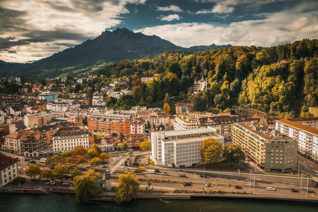 Panorama Lucerny z Museggmauer. Co zobaczyć w Lucernie.