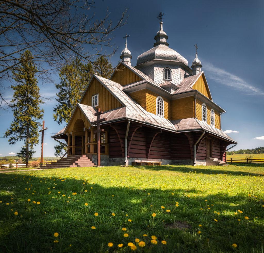 Drewniane cerkwie Beskidu Niskiego.  Cerkiew Wniebowstąpienia Pańskiego w Gładyszowie