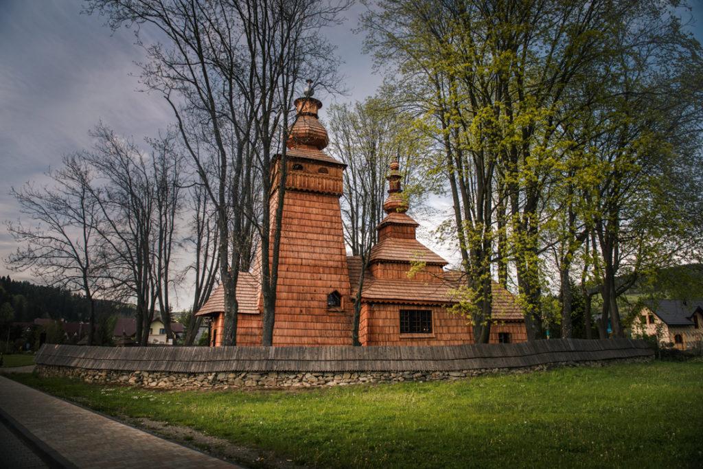 Drewniane cerkwie Beskidu Niskiego.  Cerkiew świętego Jakuba w Powroźniku