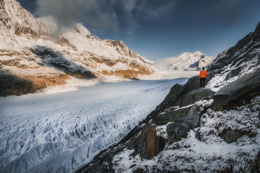 Największy lodowiec Alp - Aletschgletscher
