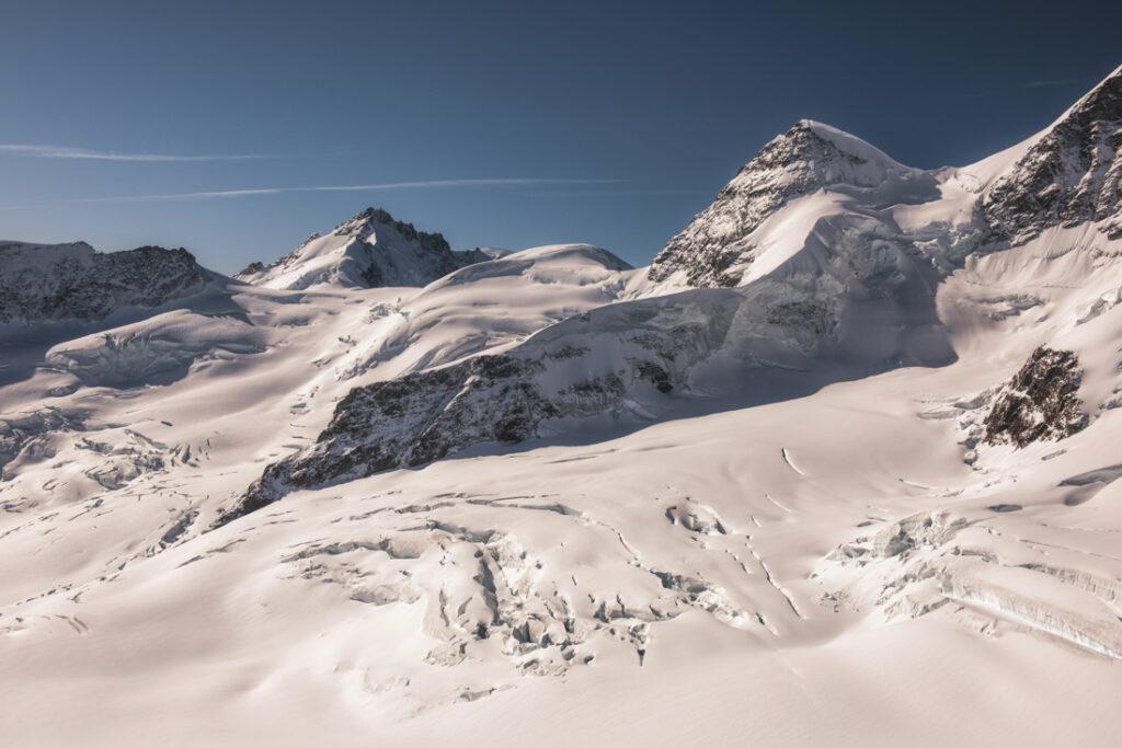 Panorama Aletschgletscher z przełęczy Jungfraujoch