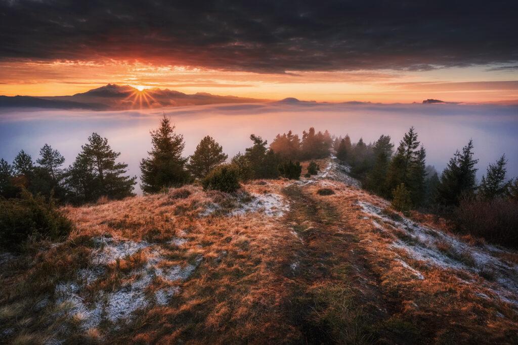 Zachód słońca nad Tatrami, Wysoki Wierch, Pieniny. Nikon Z7 + Nikkor Z 14-30mm f/4 S | 3 kadry HDR.
