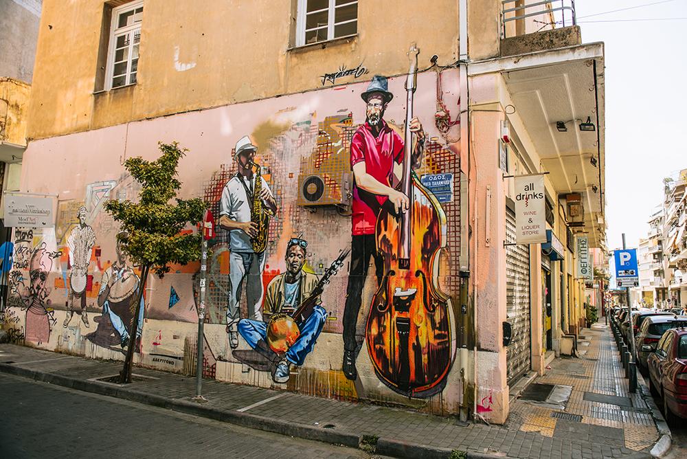 Mural w Atenach