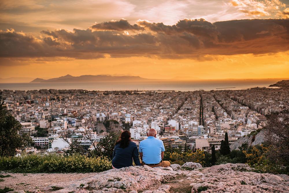 Największe atrakcje Aten. Co warto zobaczyć w Atenach - zachód słońca na wzgórzu Filopapposa