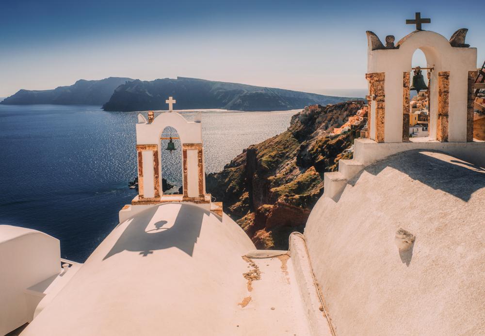 Co zobaczyć na Santorini? Największe atrakcje Santorini. Kościół w Oia.