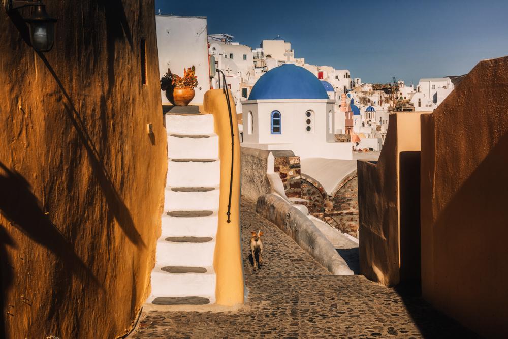Co zobaczyć na Santorini? Największe atrakcje Santorini. Uliczki w Oia.