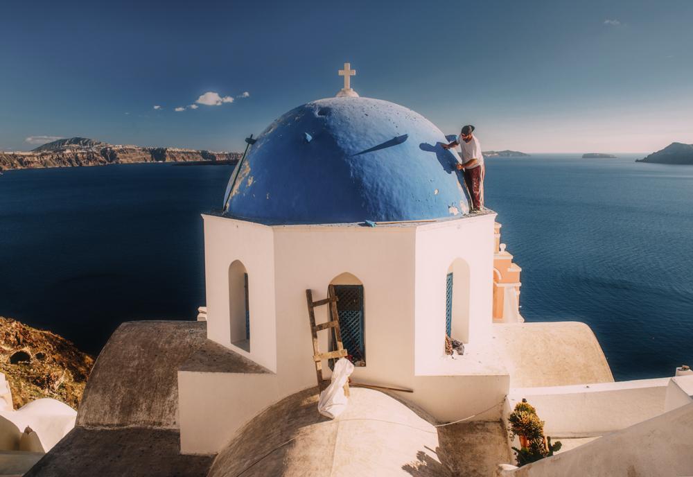 Największe atrakcje Santorini. Kościół w Oia.