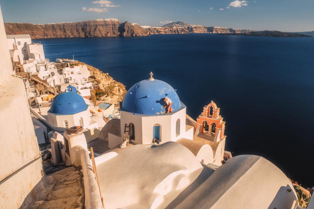 Co zobaczyć na Santorini? Kościół w Oia. Najpiękniejsze miejsca Santorini.