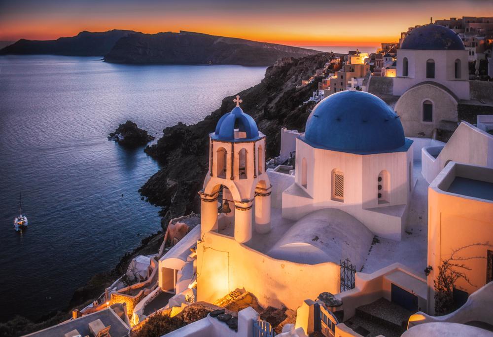 Najpiękniejsze miejsca Santorini - Oia, Blue Dome Church