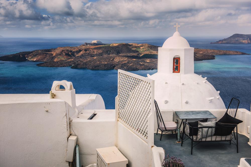 Największe atrakcje Santorini. Panorama Thiry.
