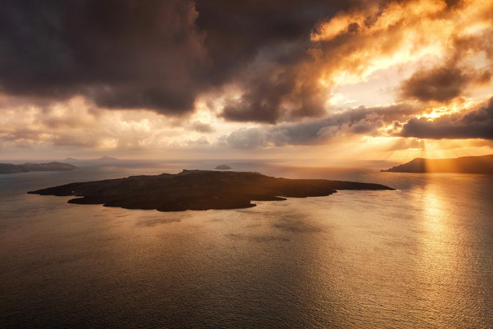 Nea Kameni, Santorini. Najpiękniejsze miejsca Santorini.