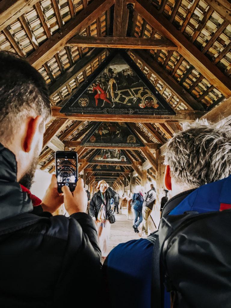 Obrazy Danse Macabre (Totentanz) na Spreuerbrücke.
