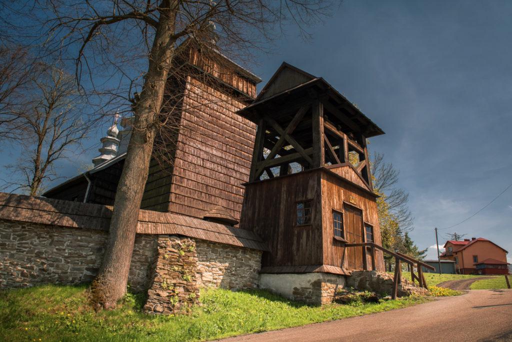 Drewniane cerkwie Beskidu Niskiego.  Cerkiew Opieki Matki Bożej w Zdyni