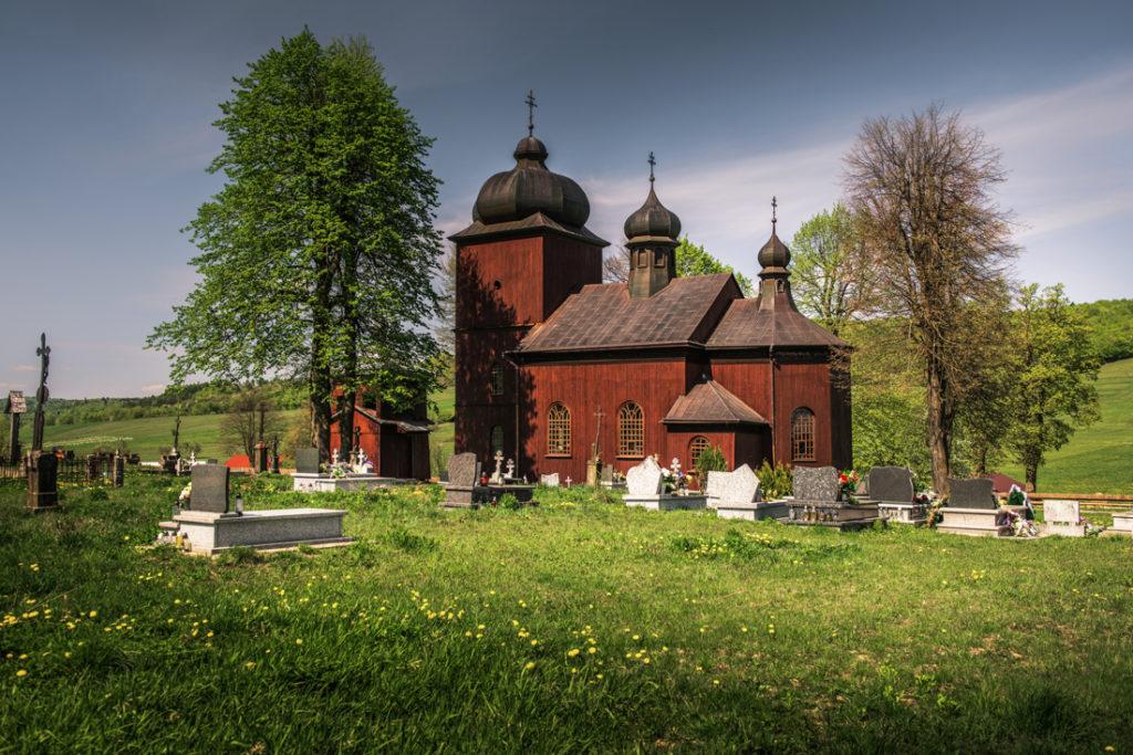 Drewniane cerkwie Beskidu Niskiego.  Cerkiew św. Bazylego Wielkiego w Koniecznej