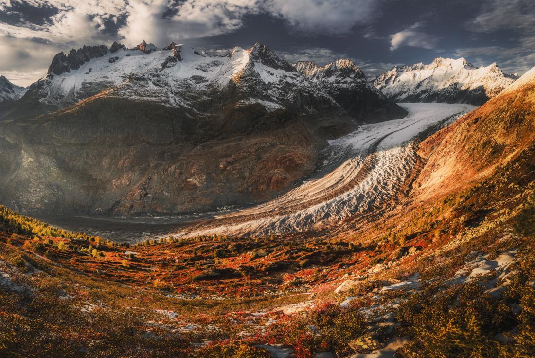 Największy lodowiec Alp – Aletschgletscher. Trekking i informacje praktyczne.