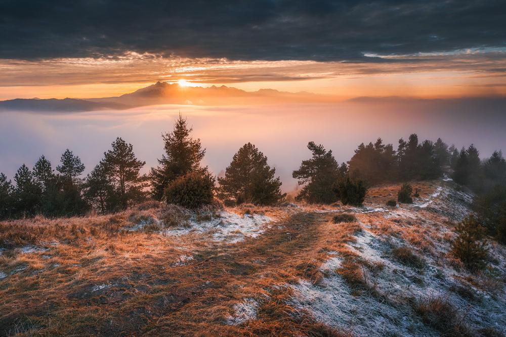 Panorama Tatr z Wysokiego Wierchu, Pieniny