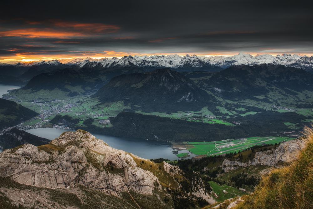 Największe atrakcje Szwajcarii - panorama ze szczytu Esel.