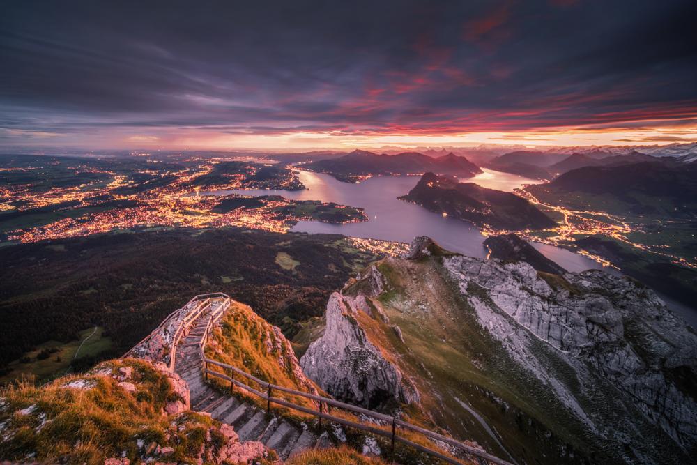Największe atrakcje Szwajcarii. Co zobaczyć w Szwajcarii. Góra Pilatus i Jezioro Czterech Kantonów. Lucerna.