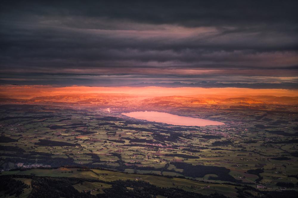 Panorama w kierunku północno-zachodnim ze szczytu Esel.