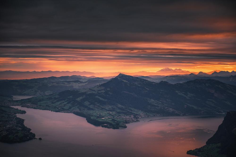 Góra Rigi i Jezioro Czterech Kantonów, Szwajcaria