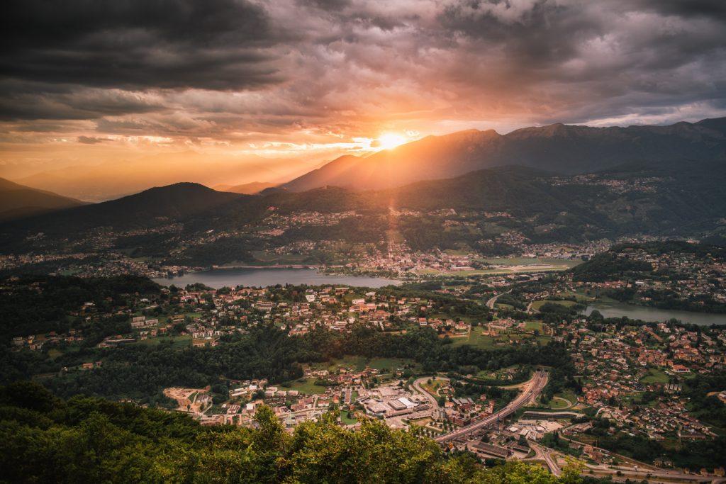Panorama z Monte San Salvatore
