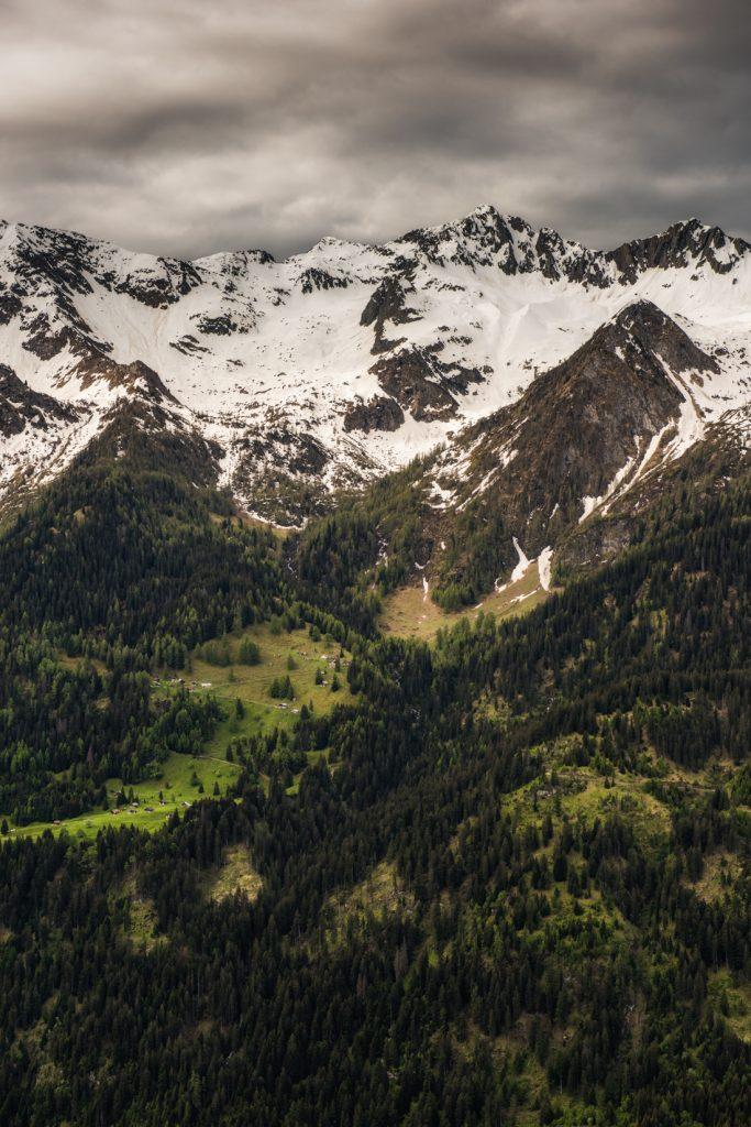 największe atrakcje Ticino : Funicolare Ritom - panorama z trasy