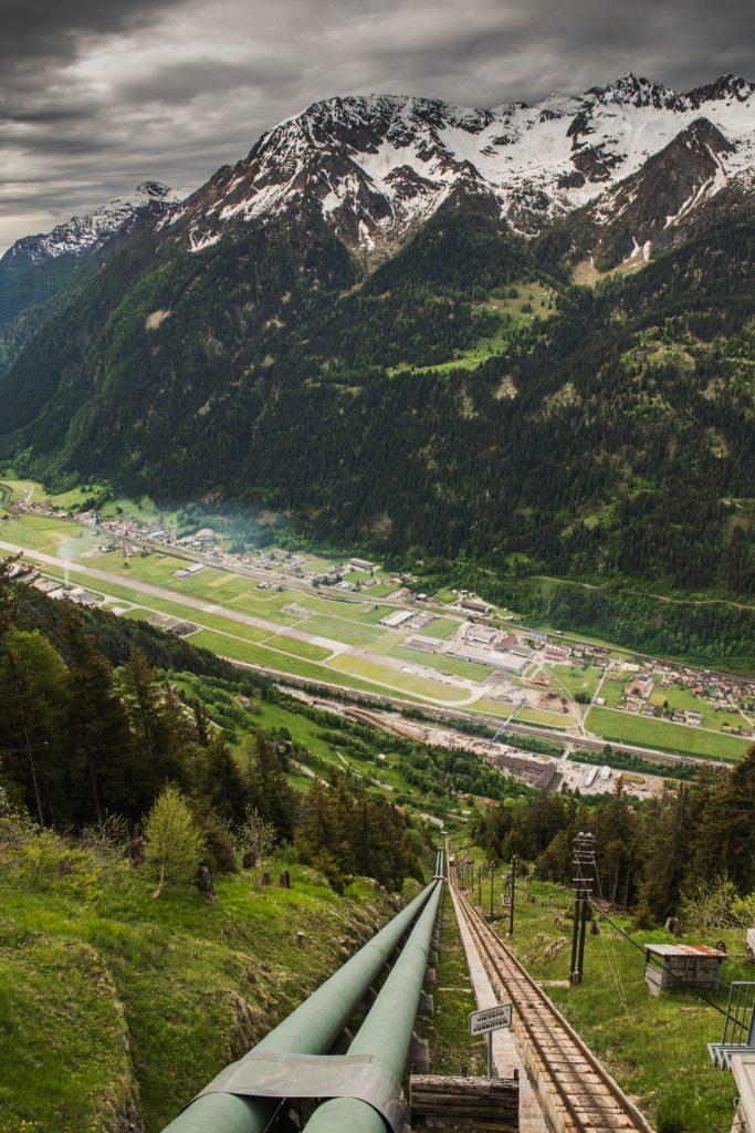 Co warto zobaczyć w Ticino, największe atrakcje Ticino : Funicolare Ritom - panorama z trasy