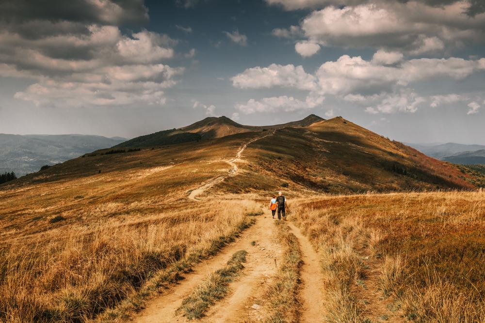 Najpiękniejsze szlaki w Bieszczadach - szlak Połoniną Wetlińską.