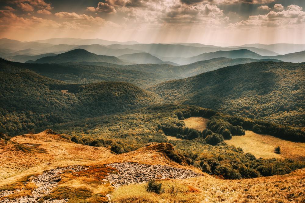 Co warto zobaczyć w Bieszczadach - najpiękniejsze szlaki w Bieszczadach. Tarnica - Halicz - Rozsypaniec