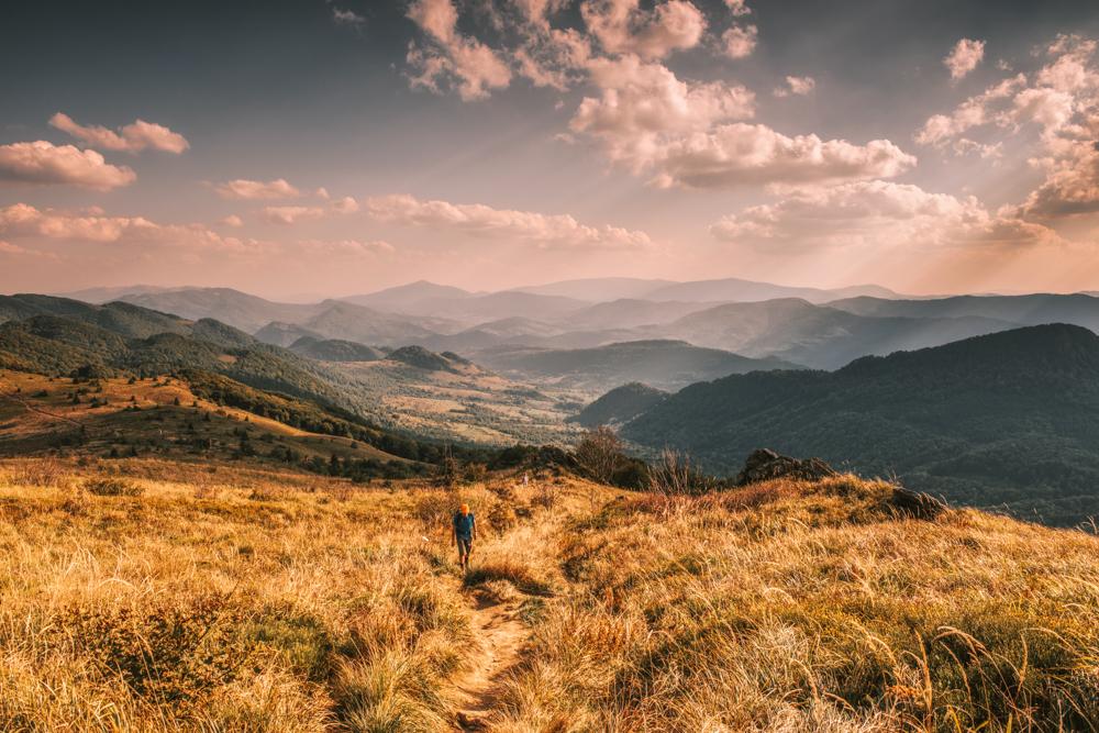 Najpiękniejsze szlaki piesze w Bieszczadach - szlak z Halicza przez Rozsypaniec do Wołosate.