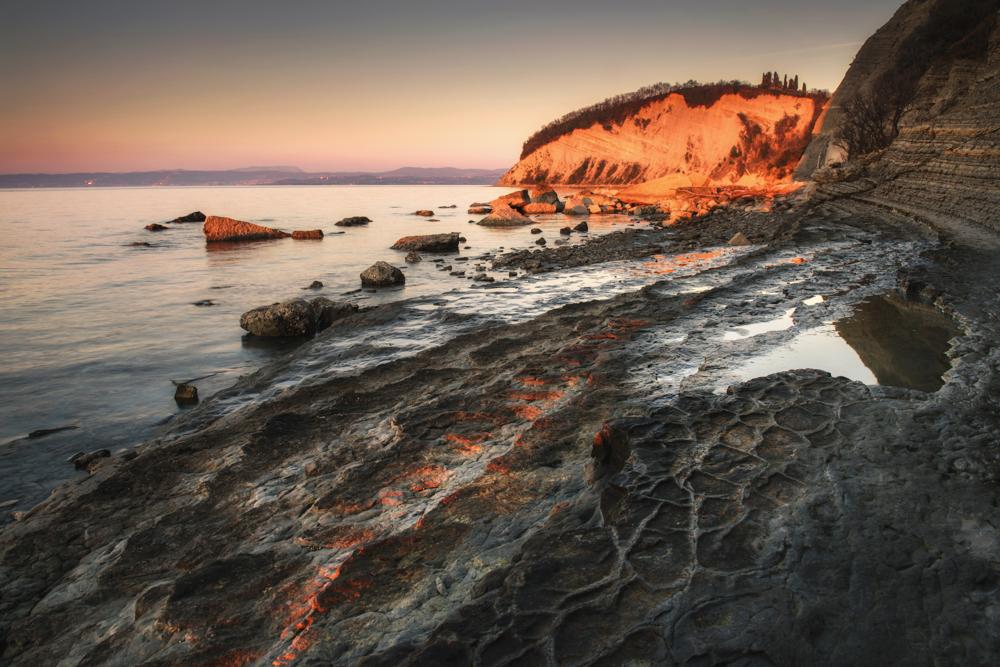 Wybrzeże Słowenii, słoweńskie wybrzeże Adriatyku, słowenia plaże, Słowenia Adriatyk, najpiękniejsze miejsca Słowenii, co warto zobaczyć w Słowenii, Mesecev Zaliv, Rezerwat Przyrody Strunjan
