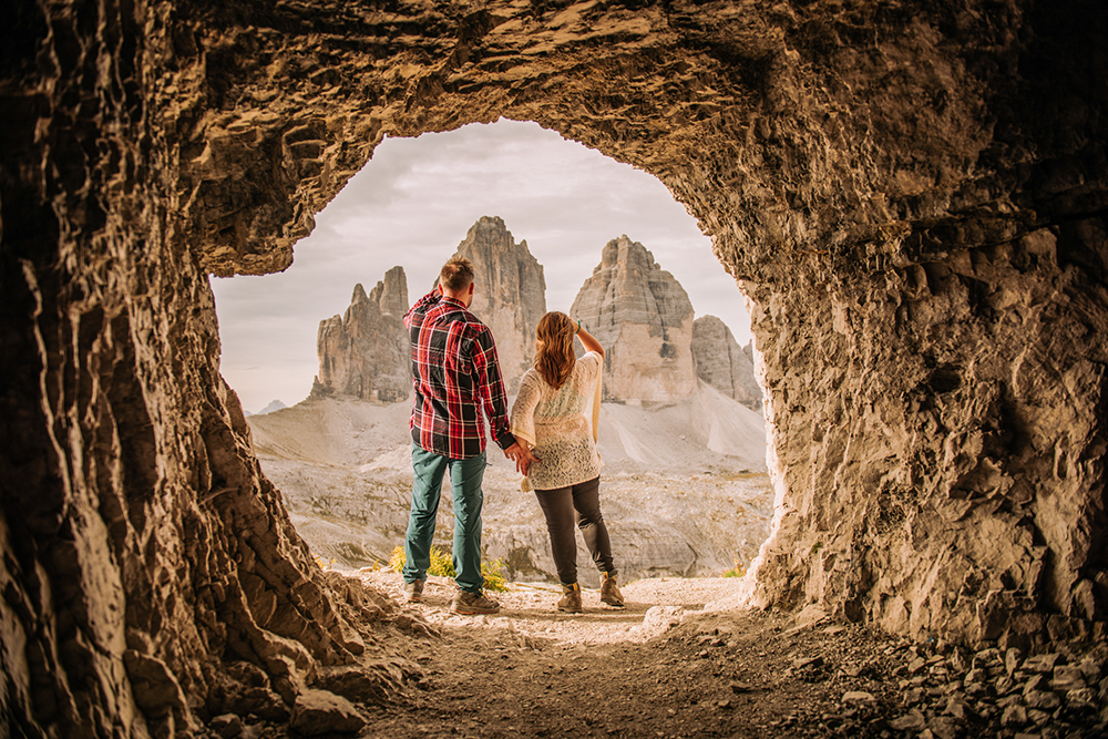 Sesja fotograficzna w Alpach, sesja zdjęciowa w Dolomitach, sesja narzeczeńska