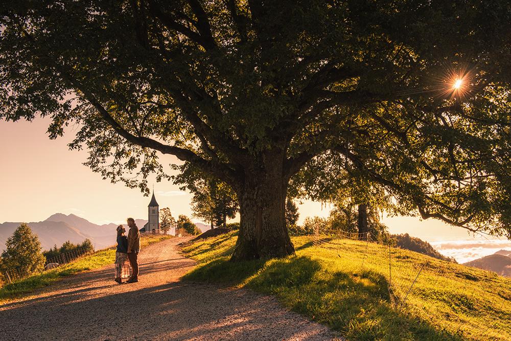 Sesja fotograficzna w Alpach, sesja zdjęciowa w Słowenii, sesja narzeczeńska