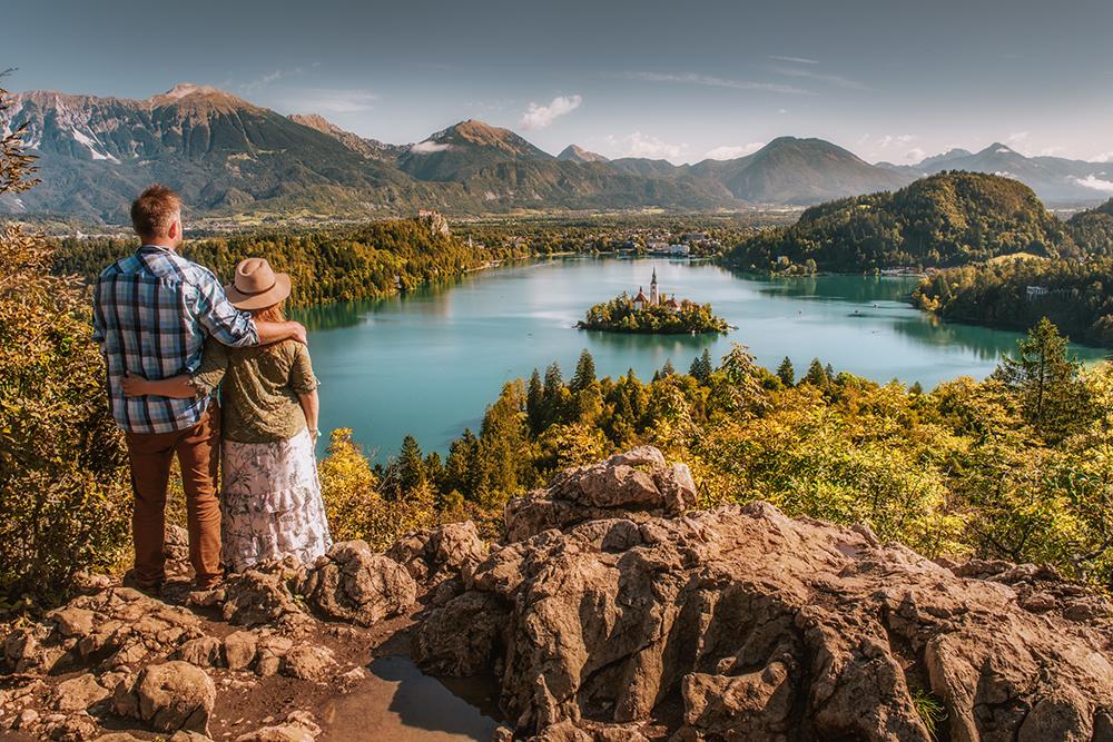 Sesja fotograficzna nad Bledem, sesja zdjęciowa w Słowenii, sesja narzeczeńska