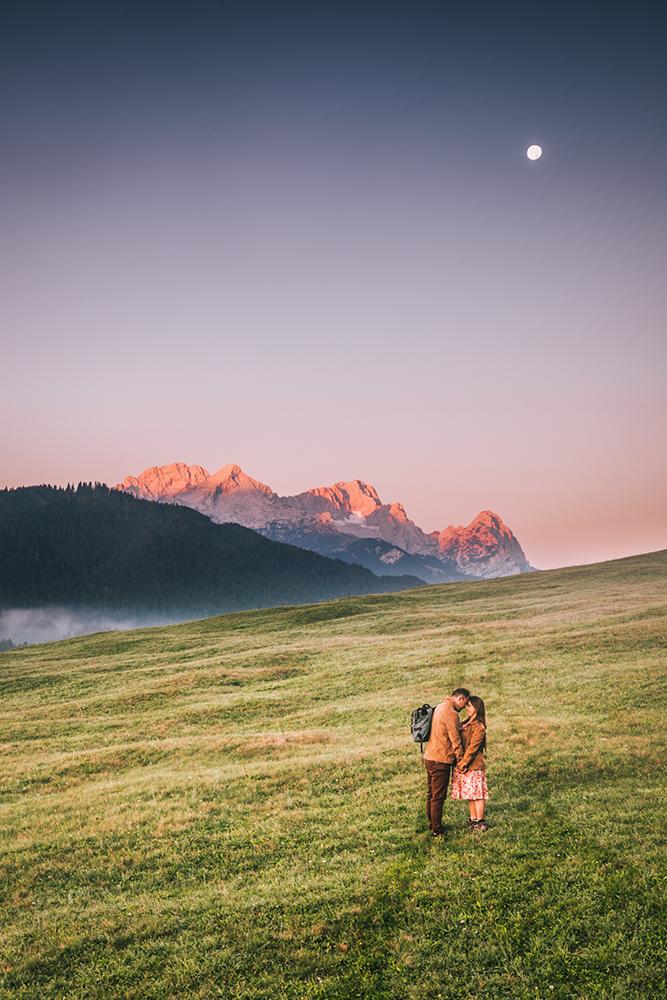 Sesja fotograficzna w Alpach, sesja zdjęciowa w Bawarii, sesja narzeczeńska