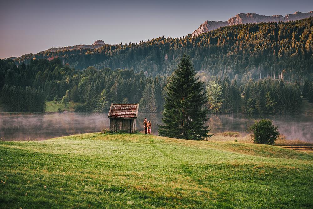 Sesja fotograficzna w Garmisch-Partenkirchen, sesja zdjęciowa w Bawarii, sesja narzeczeńska